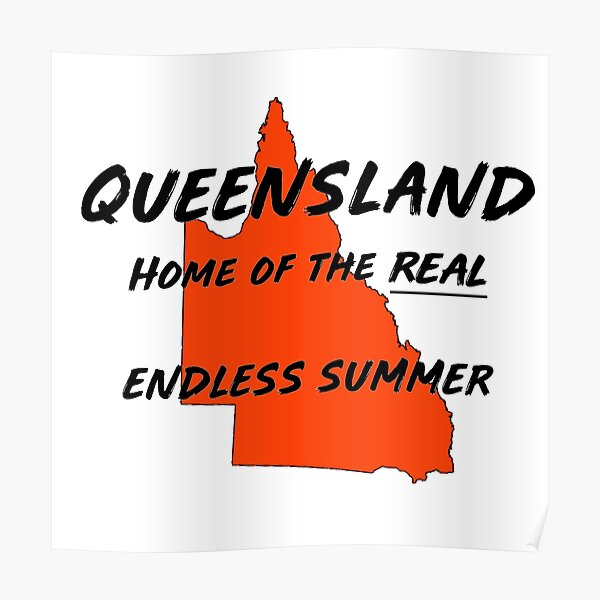 Queensland Australia. Where it's summer 364 days a year! Poster