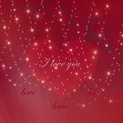 Red Festive Love Valentines Day Card by hurmerinta
