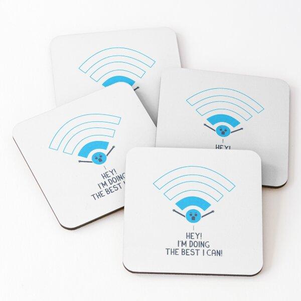 Angry Wifi Coasters (Set of 4)