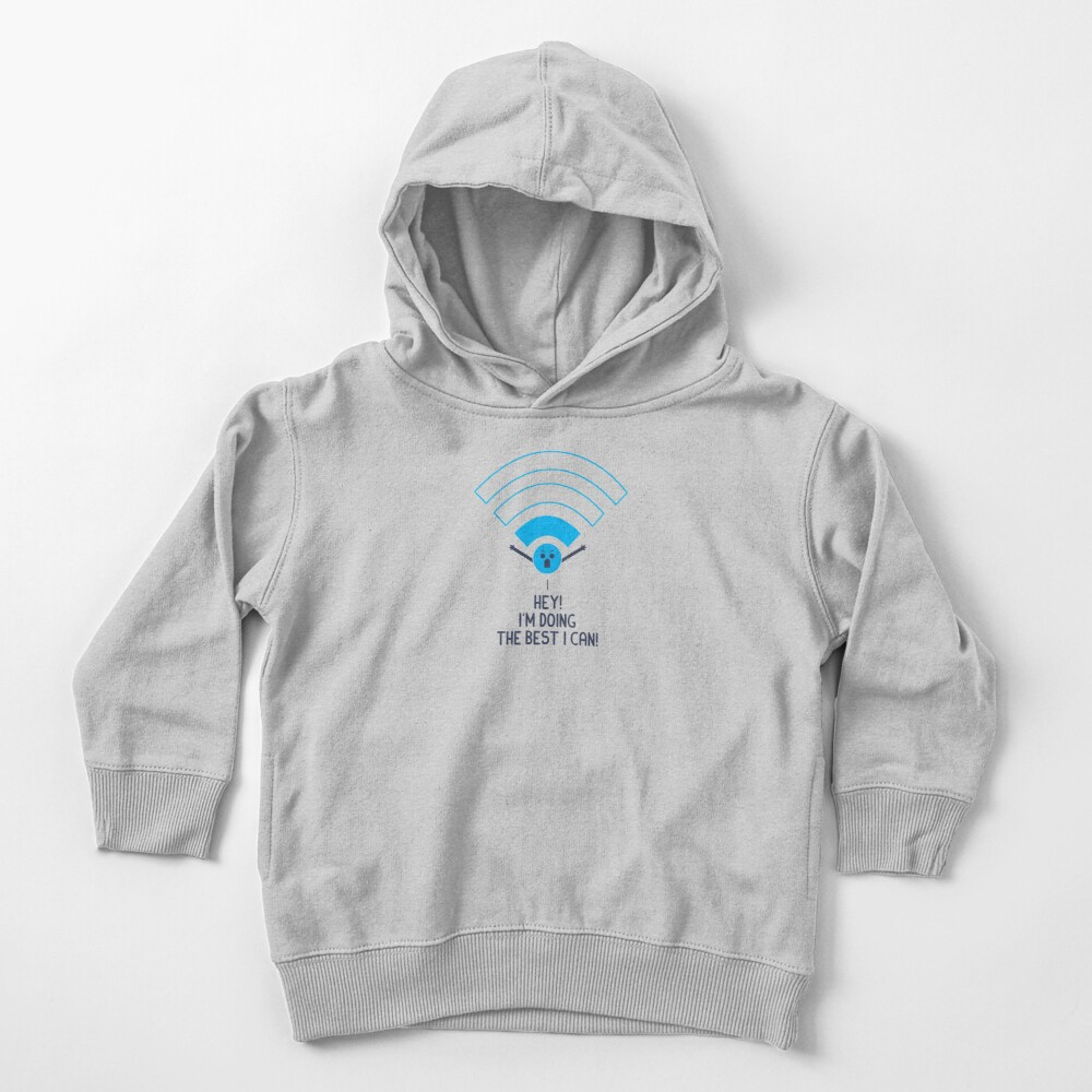 Angry Wifi Toddler Pullover Hoodie