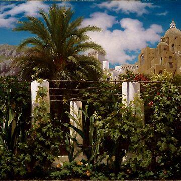 "Frederic Leighton ""Garden of an Inn, Capri"" by ALD1"