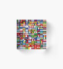 The World's Flags Acrylic Block