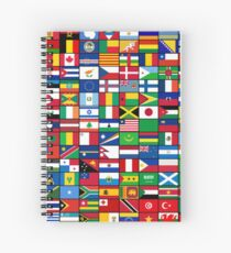 The World's Flags Spiral Notebook