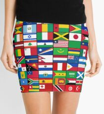 Die Flaggen der Welt Minirock