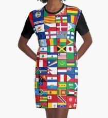 Die Flaggen der Welt T-Shirt Kleid