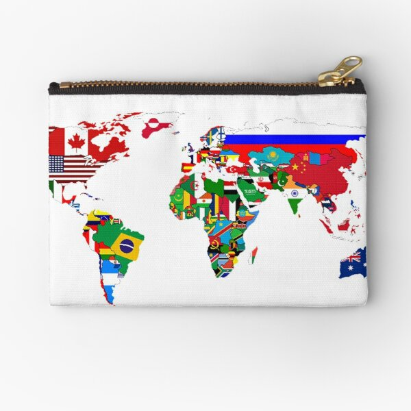 Coin Purse Algeria Flag And Wave Off Kanagawa wallet change Purse with Zipper Wallet Coin Pouch Mini Size Cash Phone Holder