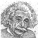 ALBERT EINSTEIN - ink portrait by lautir