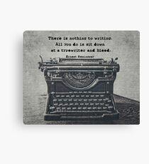 Writing According to Hemingway Canvas Print