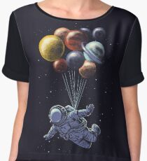 Space Travel Chiffon Top