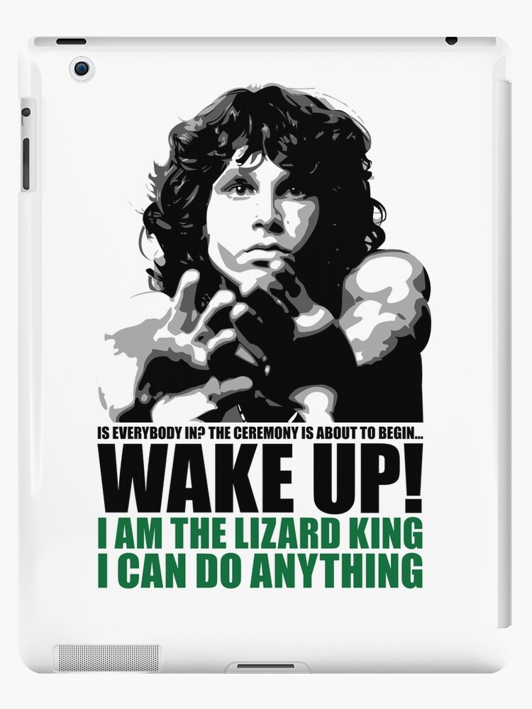"Wake Up Lizard King"" iPad Case & Skin by NoAvgPxlPusher | Redbubble"