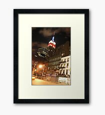 The Empire State in the Red White and Blue (NYC) Framed Print