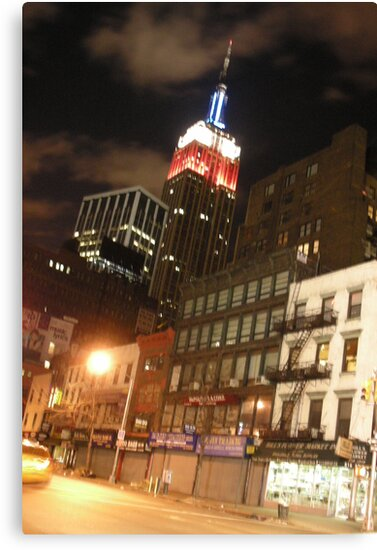 The Empire State in the Red White and Blue (NYC) by BGpix