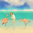 Flamingo beach, Aruba by puuung1