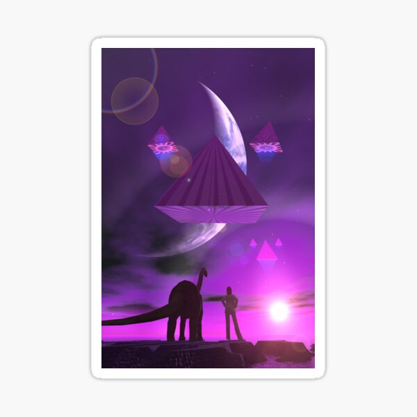 The Summit Of Ancient Mysteries by Spaced Painter Sticker