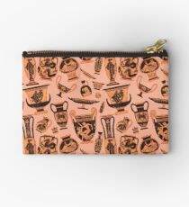 Ancient Greek Pottery - black and white Zipper Pouch