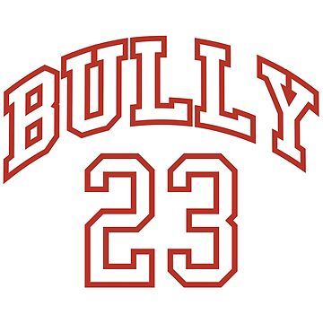 Red and White Bully 23 Basketball by andreirose