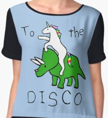 Blusa To The Disco (Unicorn Riding Triceratops)