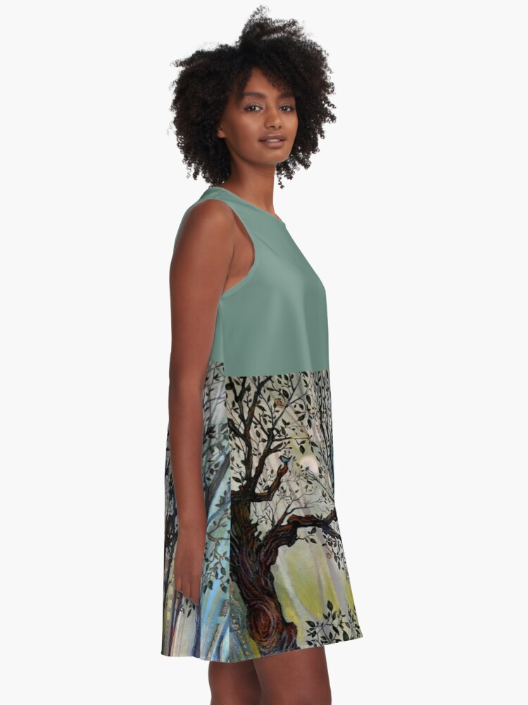Alternate view of Proliferation (Tree of Life Series) A-Line Dress
