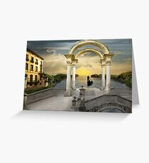 Gondolier`s way Greeting Card