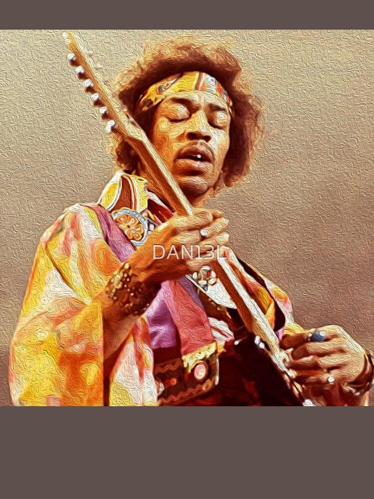 Jimi Hendrix & Gitarre von DAN13L