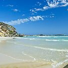 Follow the shoreline, Lowlands Beach by Karen Stackpole