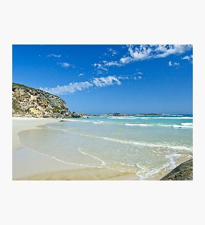 Follow the shoreline, Lowlands Beach Photographic Print