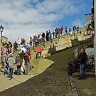 Congestion On The Steps, Whitby by Rod Johnson