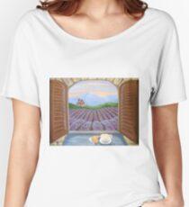 Lavender Croissant Women's Relaxed Fit T-Shirt