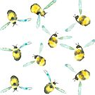 Busy Bees by LIMEZINNIASDES