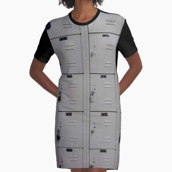 #cabinet, #rack, #mailbox, #security, #order, #food, #data, #drawer Graphic T-Shirt Dress