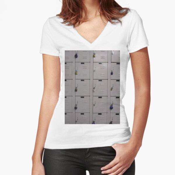 #cabinet, #rack, #mailbox, #security, #order, #food, #data, #drawer Fitted V-Neck T-Shirt