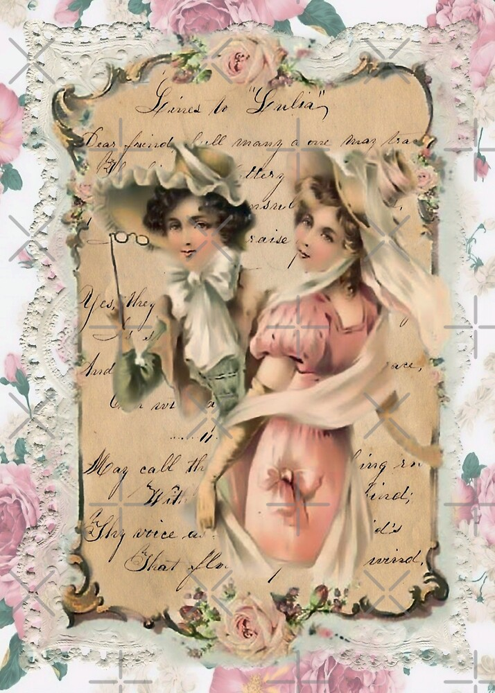 Two Ladies Lace and Roses by SherDigiScraps