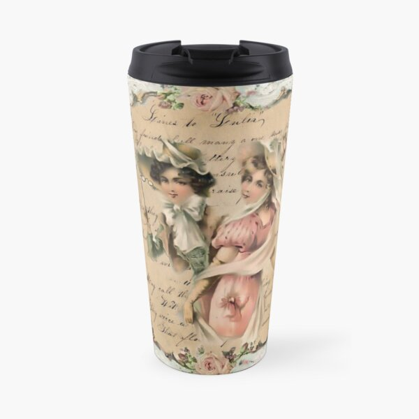 Two Ladies Lace and Roses Travel Mug