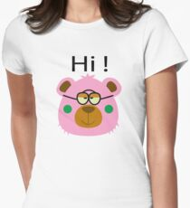 Teddy Bear with glasses Women's Fitted T-Shirt