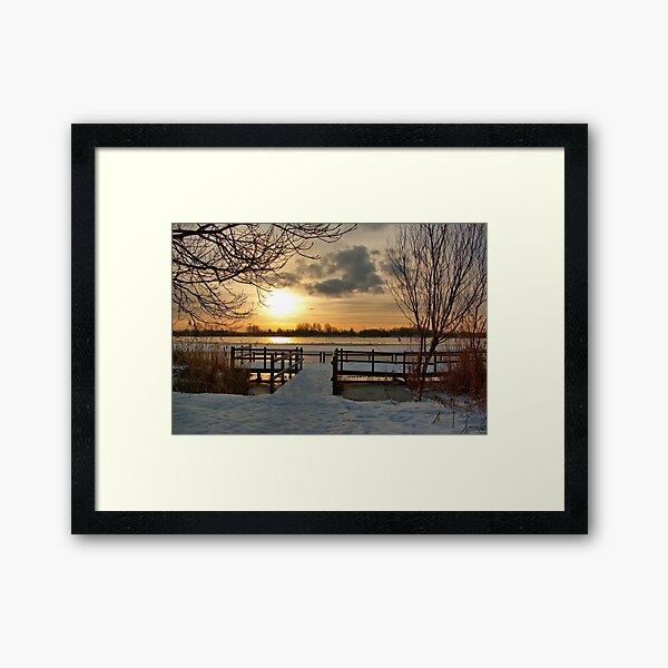 Wintermorning near the lake Framed Art Print