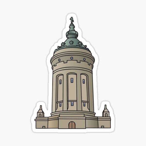 Wasserturm Mannheim Sticker