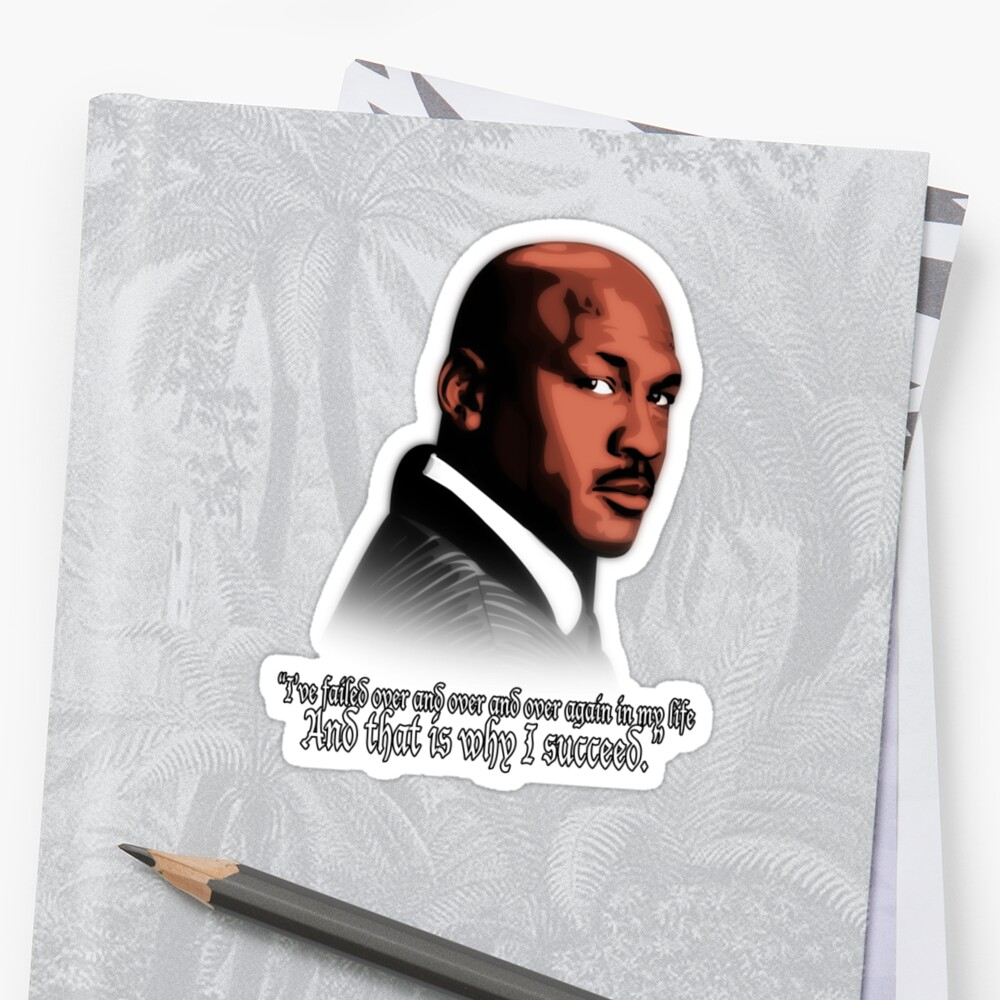 michael jordan vector and quote stickers by t3cowboys redbubble
