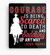 Lámina metálica Coraje Saddle Up Horse Cowboy