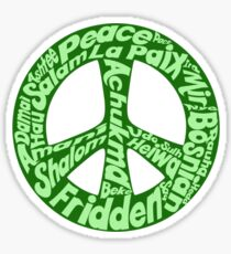 Green peace sign world languages  Sticker