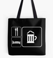 Food Sleep Beer Tote Bag