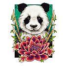 Neo Traditional Panda  by lornalaine
