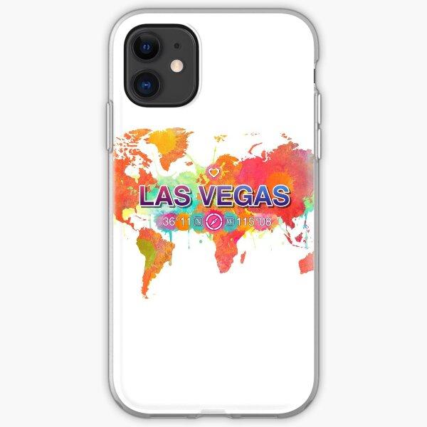 Las Vegas Nevada klare Wasserweltkarte iPhone Flexible Hülle