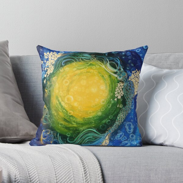 Three Fish Throw Pillow