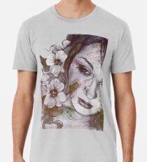 Cleopatra's Sling: Sunset (sweet eyes, flower girl portrait) Men's Premium T-Shirt