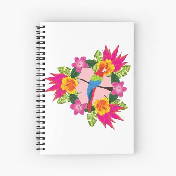 Tropical parrot design Spiral Notebook
