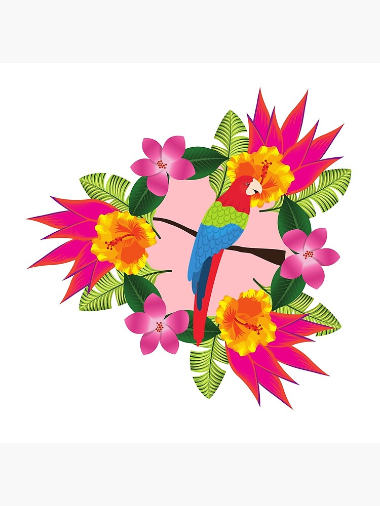 Tropical parrot design by KellyTwinkle
