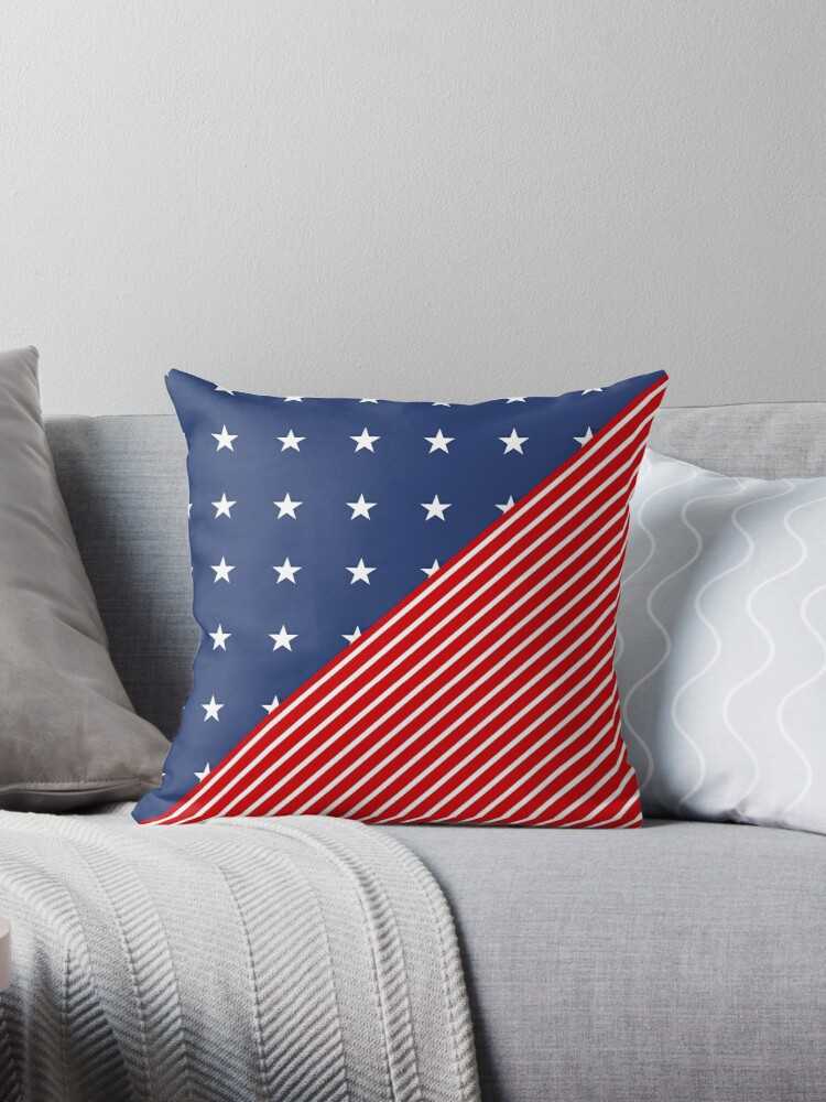 Patriotic Red and Blue American Stars and Stripes by Pixelchicken
