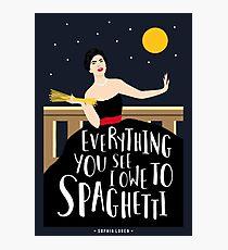 Sophia Spaghetti Photographic Print