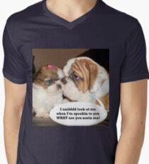 English Bulldog Humor Men's V-Neck T-Shirt