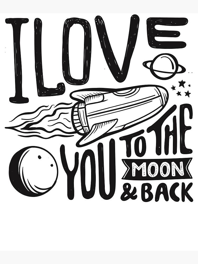 Ich liebe dich bis zum Mond und zurück - Valentinstag